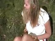 German Teen Gets Assfucked Outside