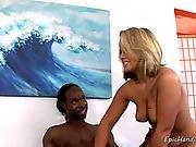 Iamporn - Blonde Cutie Strokes Big Black Cock