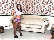 1599-3 British Girl Minnie Strips Before Sex