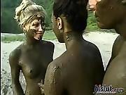 big boob,  black,  blonde,  boob,  brunette,  cumshot,  facial,  interracial,  outdoor,  threesome