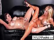 Hot Lesbians Use Glitter Baby Oil