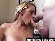 Humiliatedschoolgirls  Melanie Uses Her Tight Pussy To Seduce Her Stepdad