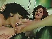 Two Milfs Making Out In The Sofa