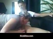 Slut I Met Online Sucks My Cock Off