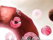 Riku Hinano Mouths Hard And Swallows Like A Goddes