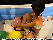 asian,  babe,  balloon,  heels,  pool,  sexy,  teen,  young