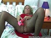 big tit,  busty,  chubby,  dildo,  fucking,  grandma,  granny,  mature,  milf,  mom ,  mother,  old ,  older woman,  panties,  pantyhose