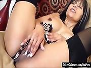 Horny Latina Gabby Quinteros Finger Fucks Her Wet Pussy