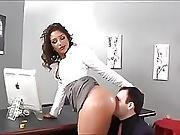 Office Ass And Foot Slave Worships Boss