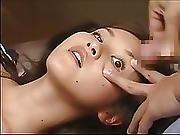 Tied Asian Takes Eye Bukkake