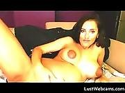 Pregnant Brunette With Huge Milky Tits Pleasing Herself In Front Of Webcam