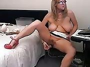 Hot Busty 48 Year Old Mature Teasing On Webcam No Sound