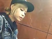 Beautiful Young Japanese Smoker
