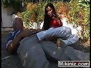 Cum On My Feet Please Cory Everson Saffy Black BossyBig Boobs Brunette Fetish Outdoors Public Three