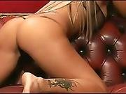 School Girl Stripping On The Couch