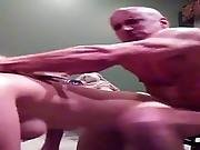 Hot Blonde With Wheelchair Bound Musclehead
