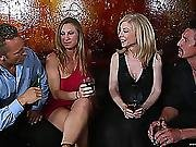 Hot Blondes Are Screwed By Large Ramrods In A Foursome