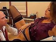 Long Sexy Leggy Brunette Rides Long Cock Kortney Kane