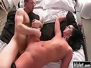 Babe Fingers Her Cunt During Sex