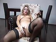Blonde Teen On Her Couch