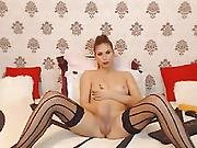 Playgirl Sheboy Jerking Her Large 10-pounder On Livecam