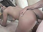Ebony Babe Jordin Skye Is Getting Nailed With A Stiff Cock