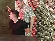 Hunk Gay Soldier Brutally Fucks The Prisoner In His Anal