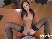 Heather Harris - Brunette Goddess Fucked In The Office