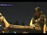 Goddess Footboy Licks Her Feet In Public