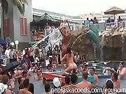 cute,  flashing,  mardi gras,  milf,  nude,  party,  pool,  public,  swimming pool,  swingers,  wet