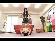 Hot Japanese Dominatrix Bossing Her Guy Around