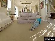 Blonde Laela Bangs On The Couch