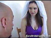 anal,  bride,  brunette,  fucking,  pussy,  pussy fucking,  shaved,  stocking