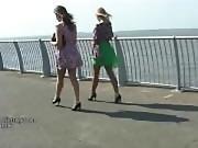 High heel babes make your shoe fetish hard in sexy nylons black stilettos