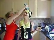 Two Girls In Custard