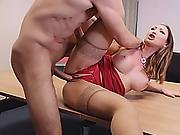 Busty Office Woman Fingered And Fucked By Her Coworker