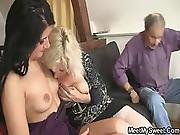 69 With His Mom And Riding Old Dad S Cock