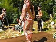Glamour Cfnm Chick Bukkaked Outdoors