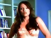 Seductive Babe Celeste Star Rubs Her Clit