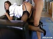 brunette,  fucking,  hardcore,  jizz,  nurse,  panties,  pantyhose