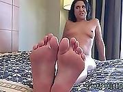 Nasty Brunette Does A Striptease