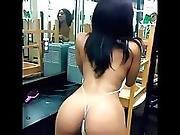 Stripper Twerking In The Locker Room