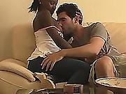 Lovely Slim Real Girlfriend Romantic Missionary Sex On Her Black Pussy