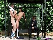 Roundass Teen Drilled By Enormous Prick