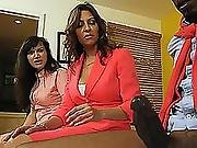Jazmyn Black Cock Gets To Be Taken By Horny Stepmom But They Share It