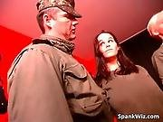 Two Young And Sexy Sluts Obey Soldier
