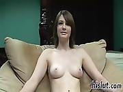 Gorgeous Teenage Babe Squeezes Her Round Tits