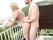 Lucias Wet Pussy Got Fucked At The Balcony