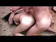 Step Brother Forces Sister To Fuck