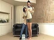 A Long Tall Girl And A Short Man